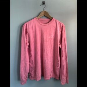 Vineyard vines s: small long sleeve coral tee GUC